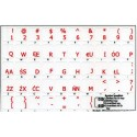 Polish Programmer transparent keyboard stickers
