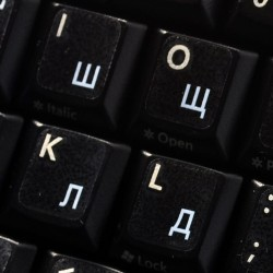 Ukrainian Russian transparent keyboard  stickers