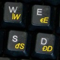 Slovak transparent keyboard  stickers