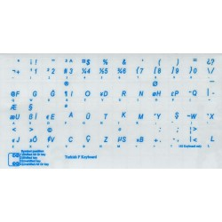 Turkish F transparent keyboard  stickers