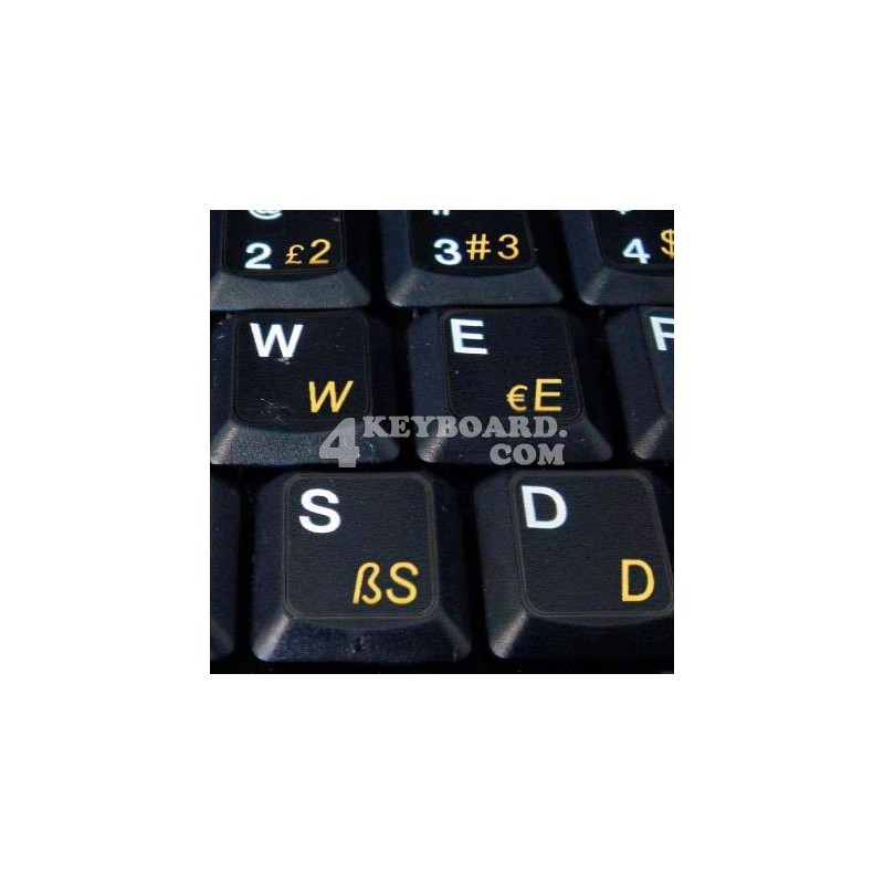 Turkish Q transparent keyboard  stickers