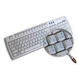 Turkish Q transparent keyboard  stickers