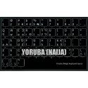 Yoruba non transparent keyboard  stickers