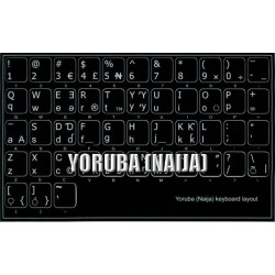Yoruba non transparent keyboard  stickers