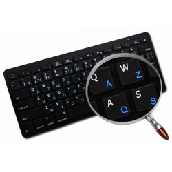 Swedish/Finnish- English non transparent keyboard stickers