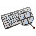 French AZERTY English non transparent keyboard stickers