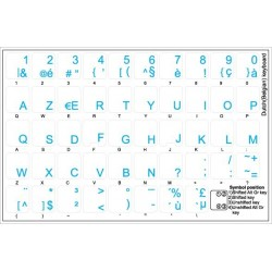 Dutch Belgian transparent keyboard stickers