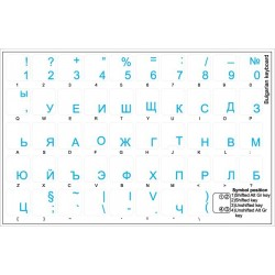 Bulgarian transparent keyboard  stickers