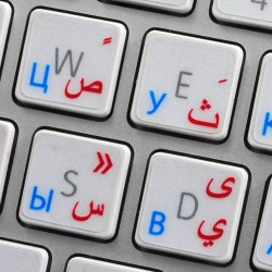 Apple Arabic Russian transparent keyboard sticker