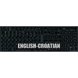Apple Croatian/Slovenian English non transparent keyboard sticker