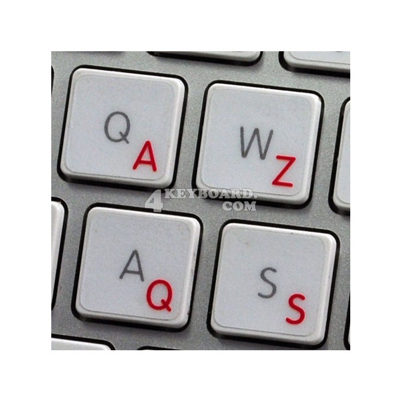 Apple French Belgian transparent keyboard sticker