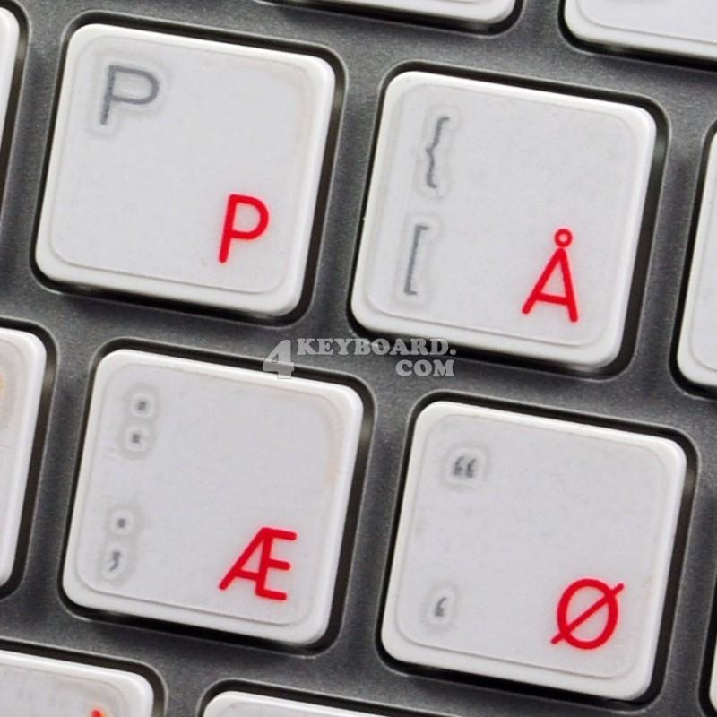 Apple Danish transparent keyboard sticker