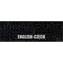 Apple Czech English non-transparent keyboard sticker