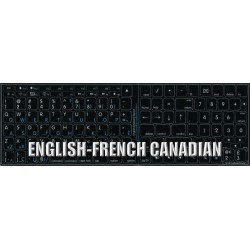 Apple French Canadian English non-transparent keyboard sticker