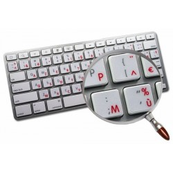 Apple French AZERTY transparent keyboard sticker