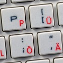 Apple German transparent keyboard sticker