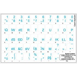 Czech transparent keyboard stickers