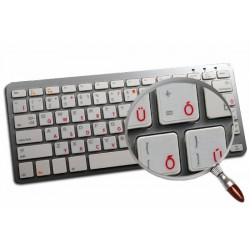Apple Hungarian transparent keyboard sticker