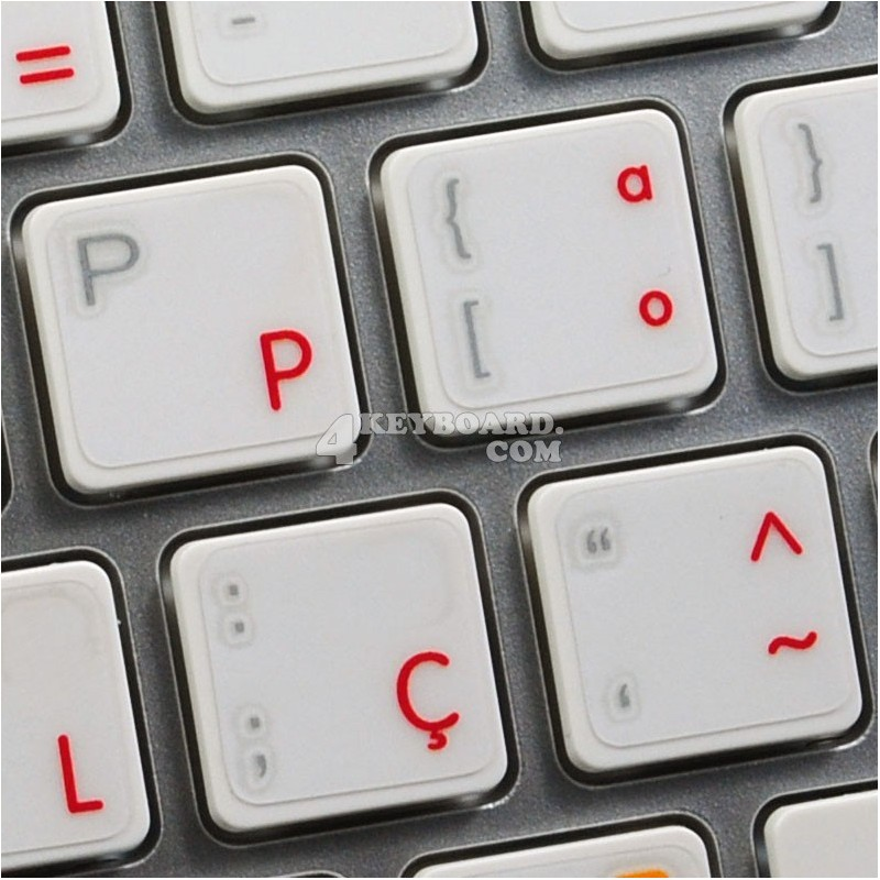 Apple Portuguese transparent keyboard sticker