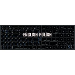 Apple Polish English non-transparent keyboard sticker