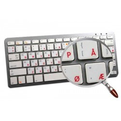 Apple Norwegian transparent keyboard sticker