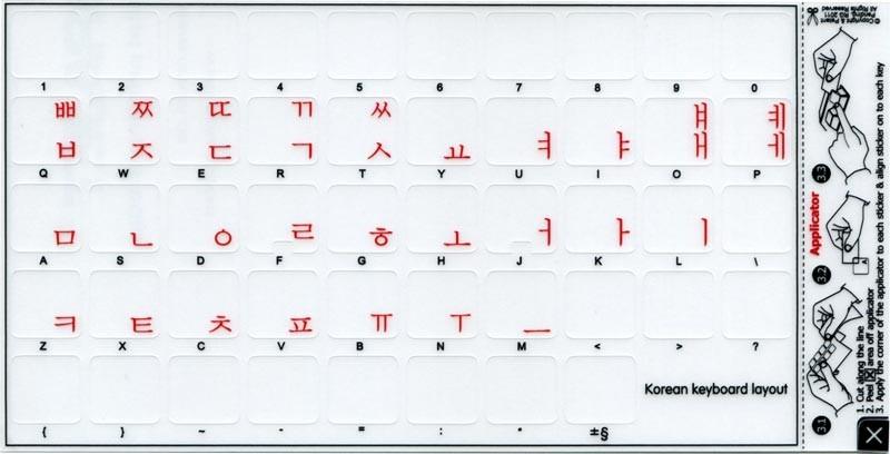 Keyboard Sticker kawaii Korean Girl - Keyboard Sticker - Sticker ...