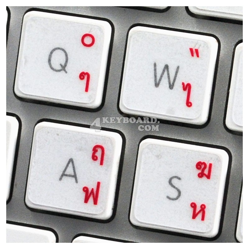 Apple Thai transparent keyboard sticker