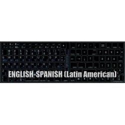 Apple Spanish Latin American English non-transparent keyboard sticker