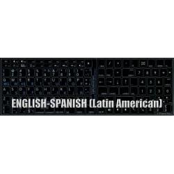 Apple Spanish Latin American English non-transparent keyboard sticker