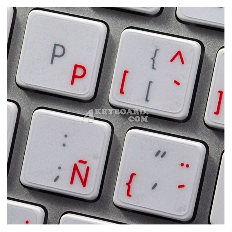 Apple Spanish transparent keyboard sticker