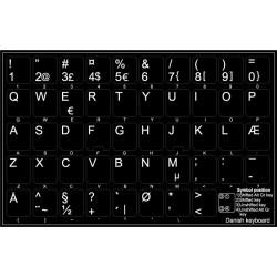 Danish non transparent keyboard  stickers