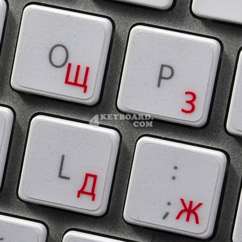 Apple Russian transparent keyboard sticker