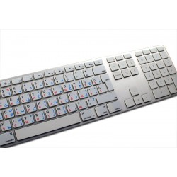 Apple Arabic Russian English non-transparent keyboard sticker
