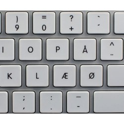 Apple Danish non-transparent keyboard sticker