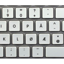 Apple Norwegian non-transparent keyboard sticker