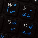 Pashto & Dari transparent keyboard stickers for Win 7