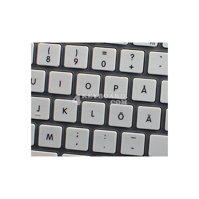 Apple Swedish Finnish non-transparent keyboard sticker