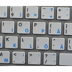Apple Swedish Finnish English non-transparent keyboard sticker