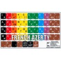 Learning French AZERTY Colored non transparent keyboard stickers
