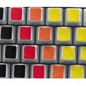 Learning Blank Colored non transparent keyboard stickers