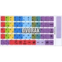 Learning Dvorak Colored non transparent keyboard stickers