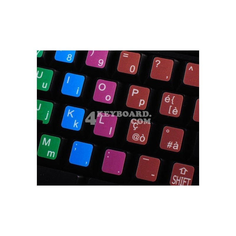 Learning Italian Colored non transparent keyboard stickers