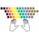 Learning Norwegian Colored non transparent keyboard stickers