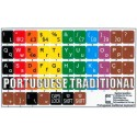 Learning Portuguese traditional Colored non transparent keyboard stickers