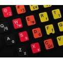 Learning Portuguese Brazilian Colored non transparent keyboard stickers