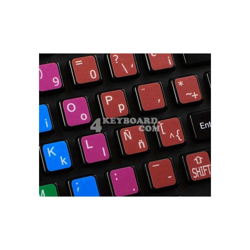 Learning Spanish Latin American Colored non transparent keyboard stickers