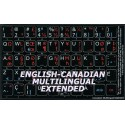 Canadian multilingual Extended non transparent keyboard stickers