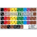 Learning Swedish/Finnish Colored non transparent keyboard stickers