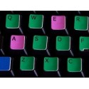 Learning English US Colored non transparent keyboard stickers