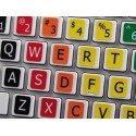 Learning English Large Lettering Colored non transparent keyboard stickers